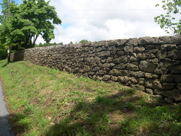 Stone wall on Creamery Road