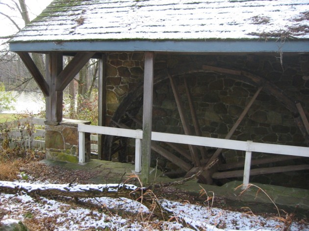 Waterwheel on Bucks County Audubon property