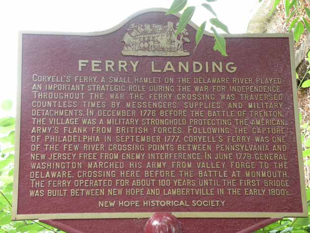 Historical marker at the site of the ferry landing