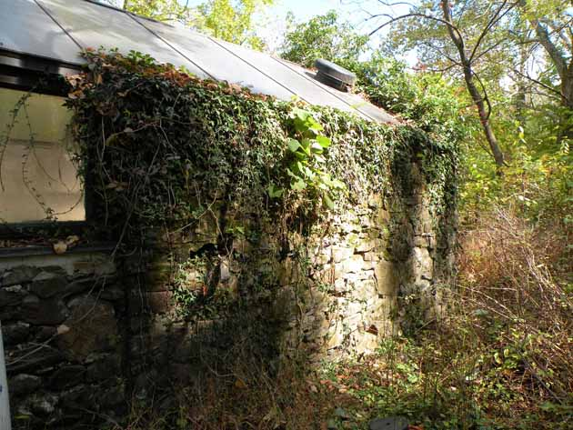 Springhouse on the Jonathan P. Magill farm, used to hide fugitives