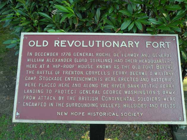 Historical marker for the Old Fort