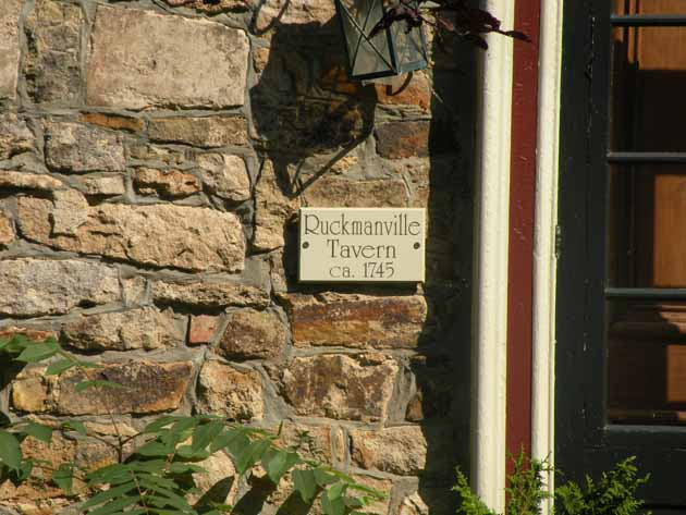 Sign on the building that was formerly the Ruckmanville Tavern
