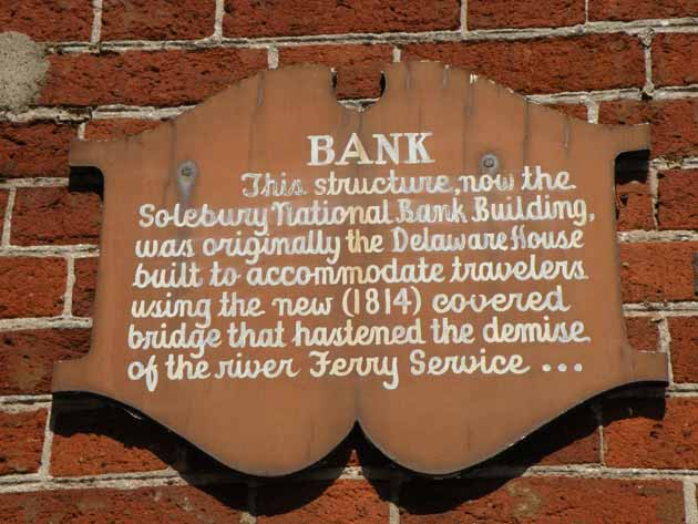 Sign on the side of the Delaware House